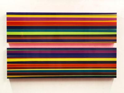 Thierry Feuz Artiste | Technicolor double panorama | lignes colorées | Galerie Mickaël Marciano Place des Vosges Paris
