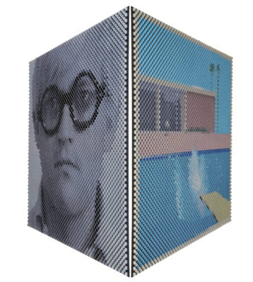 Juraj Kralik Artist | The very big splash David Hockney | optique coins | Galerie Mickaël Marciano Place des Vosges Paris
