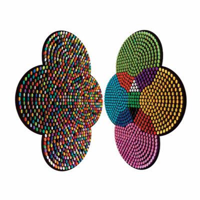 Juraj Kralik Artist | CMYK | tableau objet coin Colors | Galerie Mickaël Marciano Place des Vosges Paris