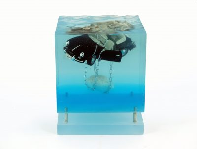 Marcello Petisci   Block B   Porsche   Sculpture Voiture Cars   Eau water   Place des vosges   Marciano Contemporary Paris