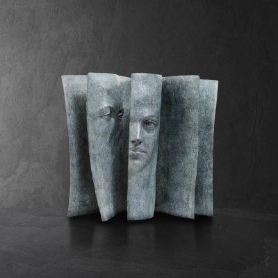 Imagine  Paola Grizi Artiste   bronze Sculpture book   Galerie Mickael Marciano Paris