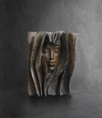 Souffle  Paola Grizi Artist   sculpture bronze livre   Galerie Mickael Marciano Paris Place des Vosges