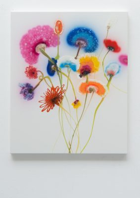 Thierry Feuz Artist | Perfect Day Serena | Colorful flowers fleurs | Galerie Mickaël Marciano Place des Vosges Paris