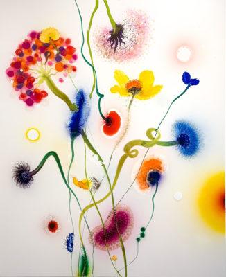 Thierry Feuz Artiste | Psychotropical Nemeis | Flowers fleurs colorées | Galerie Mickaël Marciano Place des Vosges Paris