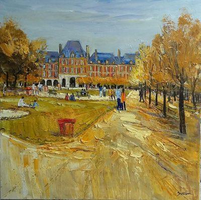 Jean-Paul Surin   Promenade d'automne  Galerie Mickael Marciano   Place des Vosges Paris   Art Gallery
