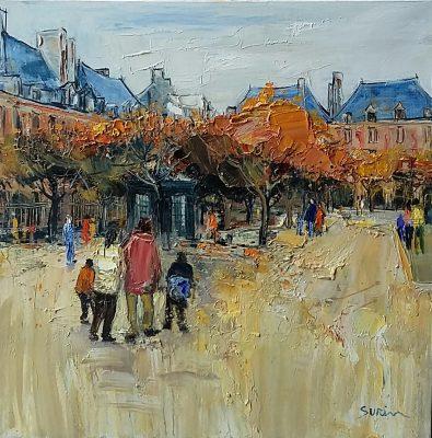 Jean-Paul Surin   Promenade  Galerie Mickael Marciano   Place des Vosges Paris   Art Gallery