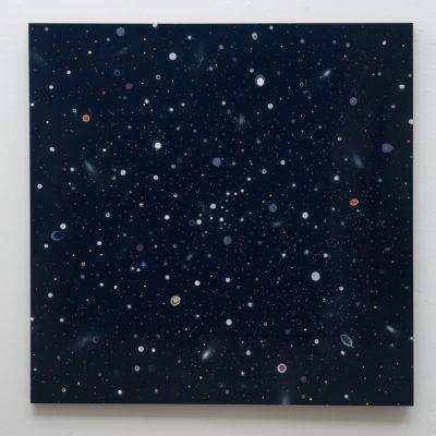 Thierry Feuz Artist | Sirius | Night sky nuit étoilée abstrait | Galerie Mickaël Marciano Place des Vosges Paris