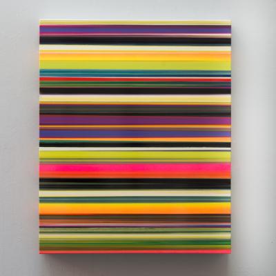 Thierry Feuz Artiste | Technicolor Stratus Pallas | Color abstrait yellow violet | Galerie Mickaël Marciano Place des Vosges Paris