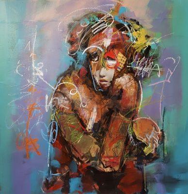Arka artiste   La mode   Peinture   Expressionnisme contemporain   Art Contemporain figuratif   Couleur   Galerie d'art Mickael Marciano   Paris Place des Vosges