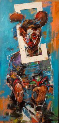 Arka artiste   Sortir du cadre   Peinture   Expressionnisme contemporain   Art Contemporain figuratif   Couleur   Galerie d'art Mickael Marciano   Paris Place des Vosges