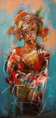 Arka artiste   Théâtrale   Peinture   Expressionnisme contemporain   Art Contemporain figuratif   Couleur   Galerie d'art Mickael Marciano   Paris Place des Vosges