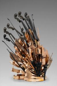 Arman Artist   Cascade de violons   Accumulation nouveau réalisme New realism école de Nice   Galerie Mickaël Marciano   Paris.
