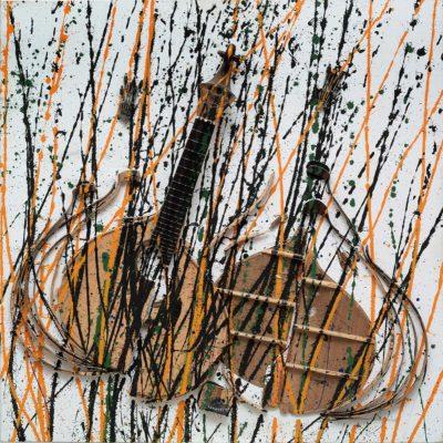 Arman Jeté de couleur Nouveau réalisme New Realism   Artiste - Galerie Mickaël Marciano   Paris.