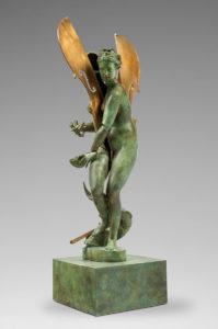 Arman Artiste   Sliced figure with cello   Nouveau Réalisme Bronze sculpture violon surréalisme   Galerie Mickaël Marciano Place des Vosges Paris.