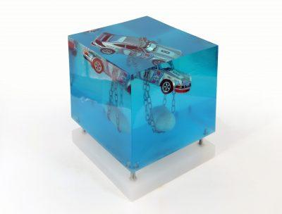 Marcello Petisci   Block A   Sculpture Voiture Cars   Eau water   Place des vosges   Marciano Contemporary Paris