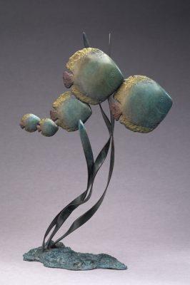 Brigitte Teman Artiste | Discus | fish poisson Bronze Sculpture | Galerie Mickaël Marciano Art Place des Vosges