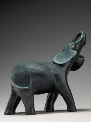 Brigitte Teman Artist | Éléphanteau | Bronze scupture | Galerie Mickaël Marciano Paris Place des Vosges