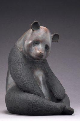 Brigitte Teman Artist | Panda | animal sculpture bronze | Mickaël Marciano Art Gallery Place des Vosges