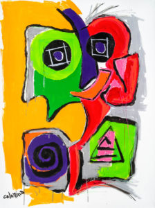 artiste Jorge Colomina Aie | Picasso Figuration abstraite | Galerie Mickaël Marciano Art Place des Vosges