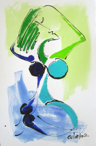 Artist Jorge Colomina Belle sur Herbe | Picasso Figuration abstraite | Galerie Mickaël Marciano Art Place des Vosges