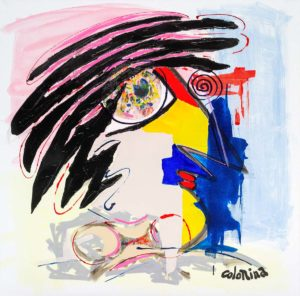 artiste Jorge Colomina C'est fou | Picasso abstract figurative painting | Mickaël Marciano Art Gallery Paris