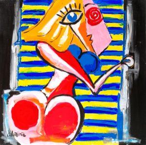 artist Jorge Colomina Derrière les volets | Picasso Figuration abstraite | Mickaël Marciano Art Gallery Paris