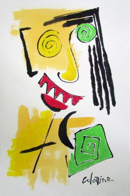 artist Jorge Colomina El Loco | abstract figurative painting Picasso | Mickaël Marciano Art Gallery Paris