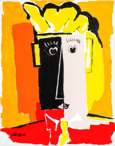 artist Jorge Colomina L'Ami ben | Picasso abstract figurative painting | Mickaël Marciano Art Gallery Place des Vosges