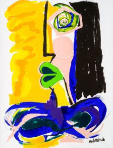 artist Jorge Colomina La Dame | Picasso abstract figurative painting | Galerie Mickaël Marciano Art contemporain Paris