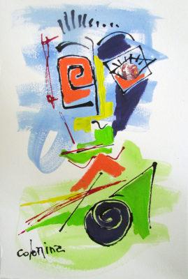 artist Jorge Colomina Levres Vertes | Picasso Figuration abstraite | Galerie Mickaël Marciano Art contemporain Paris