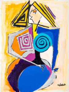 artiste Jorge Colomina Non Mais | Picasso Figuration abstraite | Galerie Mickaël Marciano Art contemporain Paris