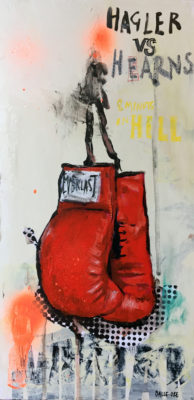 artist Corinne Dalle-Ore | 8mn in hell | Boxe boxing | Galerie Mickaël Marciano Place des Vosges Paris