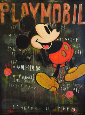 artiste Corinne Dalle-Ore | Playmobil | MickeyMouse Mickey Disney | Galerie Mickaël Marciano Place des Vosges Paris