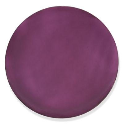 Jérémy Laval Artist | Deep Purple Round | violet Interior design Minimal Mirror Anish Kapoor | Galerie Mickaël Marciano Place des Vosges Paris