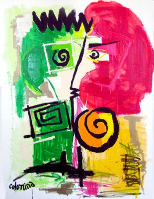 artist Jorge Colomina Grande Rousse Picasso | Figuration abstraite | Mickaël Marciano Art Gallery Paris