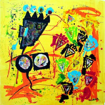artist Jorge Colomina La danseuse Picasso | Figuration abstraite | Mickaël Marciano Art Gallery Place des Vosges