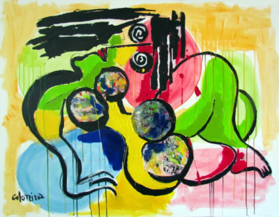 artiste Jorge Colomina Ola | abstract figurative painting Picasso | Galerie Mickaël Marciano Art Place des Vosges