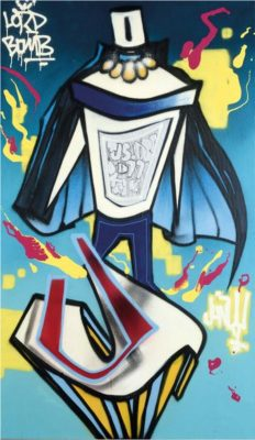 Junky Artist | Lord Bomb | Street Art Tag Lettering Graff | Galerie Marciano Art Gallery contemporain