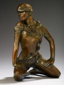 Jacques le Nantec Cheyenne | Nu féminin Bronze bflindfold | Artiste Galerie Mickaël Marciano Art contemporain Paris