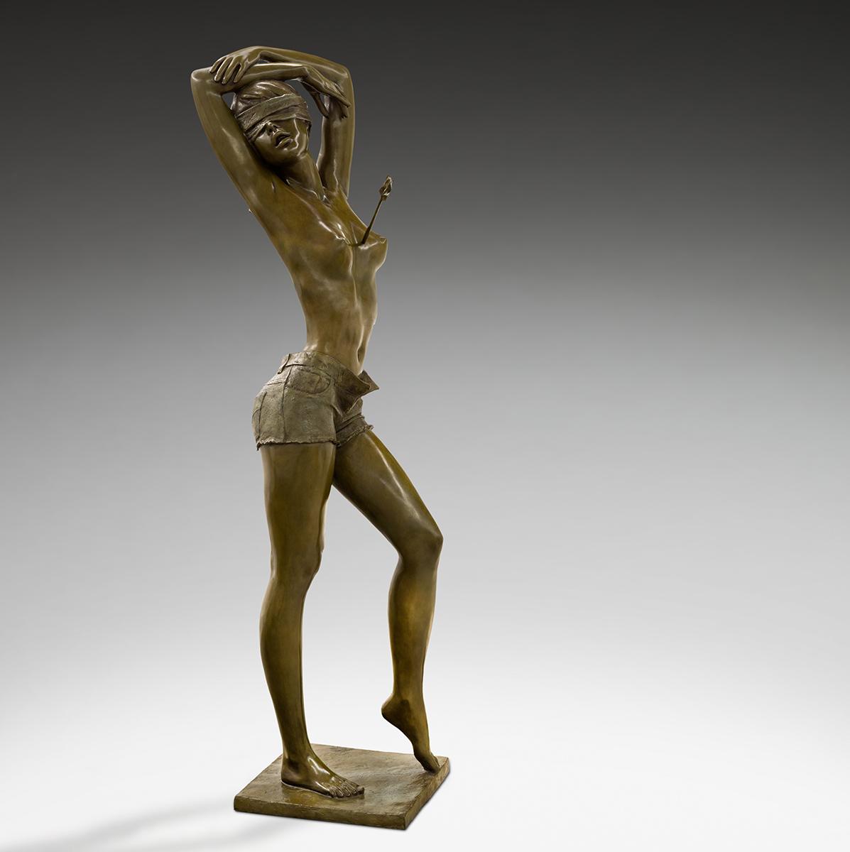 Jacques le Nantec Sainte-Chérie   Nu féminin Bronze blindfold   Artist Mickaël Marciano Art Gallery Paris