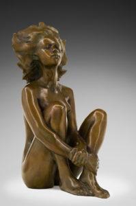 Jacques le Nantec Soleil | Female Nude sculpture | Artist Mickaël Marciano Art Gallery Place des Vosges