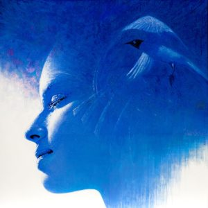 Andrzej Malinowski Artist | Océane | hyperrealism bleu blue | Galerie Mickaël Marciano Place des Vosges Paris