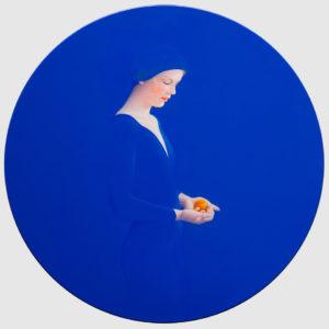 Andrzej Malinowski Artiste | Abricot | hyperrealism bleu blue | Galerie Mickaël Marciano Place des Vosges Paris