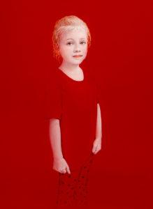 Andrzej Malinowski Artiste | Ania | hyperréalisme red rouge | Galerie Mickaël Marciano Place des Vosges Paris