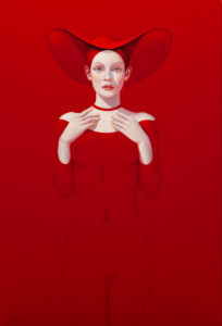 Andrzej Malinowski Artist | Duszka | hyperrealism red rouge | Galerie Mickaël Marciano Place des Vosges Paris