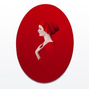 Andrzej Malinowski Artist | Florentine | hyperrealism red rouge | Galerie Mickaël Marciano Place des Vosges Paris