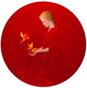 Andrzej Malinowski Artist | Groseilles | hyperrealism red rouge | Galerie Mickaël Marciano Place des Vosges Paris
