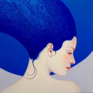 Andrzej Malinowski Artiste | Thalassa | hyperréalisme bleu blue | Galerie Mickaël Marciano Place des Vosges Paris