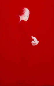 Andrzej Malinowski Artist | Timide | hyperrealism red rouge | Galerie Mickaël Marciano Place des Vosges Paris