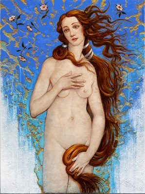 Andrzej Malinowski Artiste | Venus d'après Boticelli | hyperréalisme venus boticelli | Galerie Mickaël Marciano Place des Vosges Paris